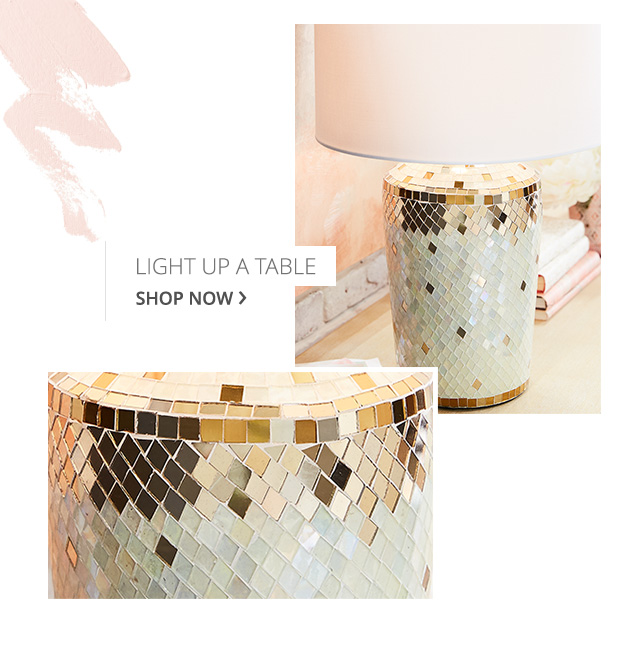 Light up a room with mosaic table lamps