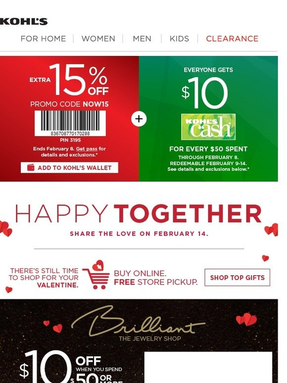 410290a18 Kohl's: Save $10 on last-minute Valentine's Day gifts! | Milled