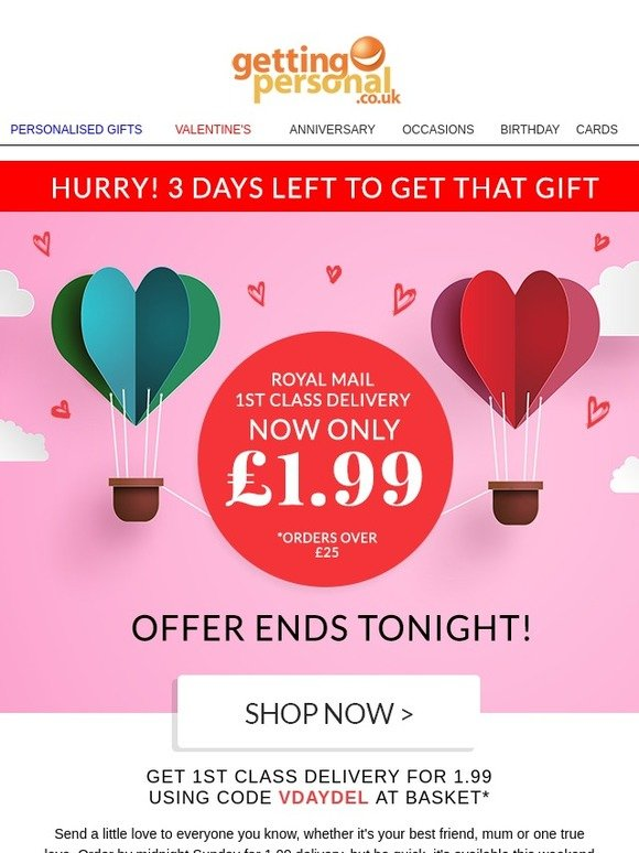 Getting Personal Dont Miss Out On Valentines Day Delivery Milled