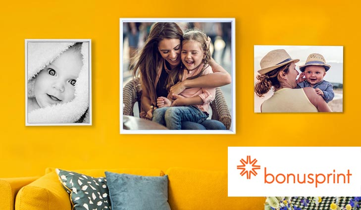 Our friends at bonusprint are giving every member a 15 voucher to spend on any piece of personalised wall art print straight from your phone