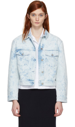 Stella McCartney - Blue Splatter Denim Jacket