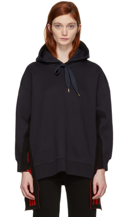 Stella McCartney - Navy 'All is Love' Side Ribbon Hoodie