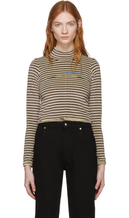 Eckhaus Latta - Multicolor Velvet Lapped Baby Turtleneck