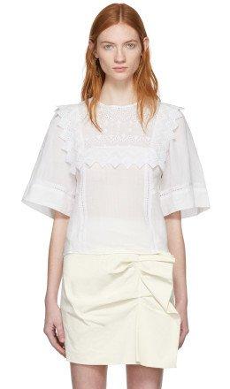 Isabel Marant - White Nesto Blouse