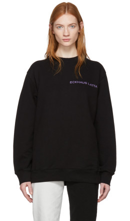 Eckhaus Latta - SSENSE Exclusive Black Logo Sweatshirt