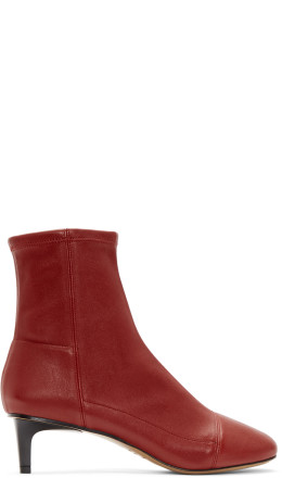 Isabel Marant - Red Daevel Sock Boots