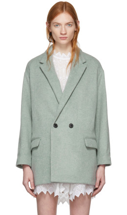 Isabel Marant - Green Filey Timeless Coat