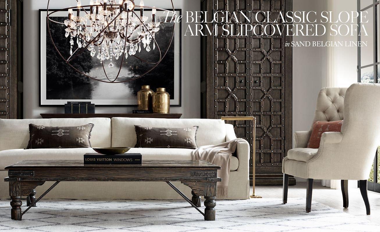 Restoration Hardware Explore The Customizable Belgian Sofa Collection Milled