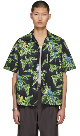 Stella McCartney - Black Short Sleeve Ron Parrot Shirt