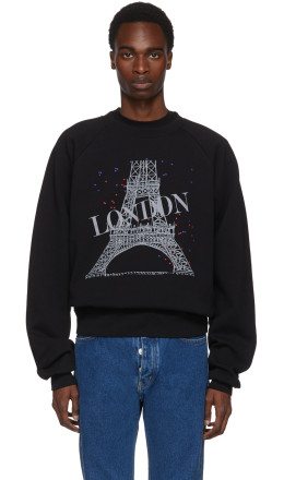Balenciaga - Black Eiffel 'London Feel Fine' Sweatshirt