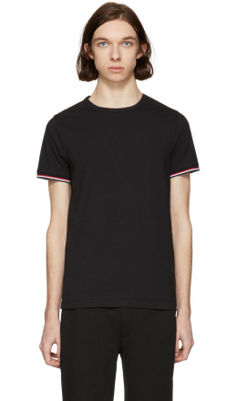 Moncler - Black Flag Sleeves T-Shirt