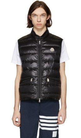 Moncler - Black Down Gui Gilet Vest