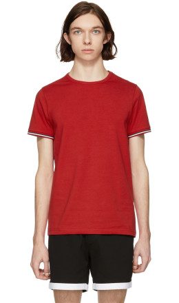Moncler - Red Flag Sleeves T-Shirt