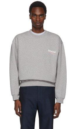 Balenciaga - Grey Campaign Logo Sweatshirt