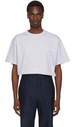 Balenciaga - Grey Campaign Logo T-Shirt