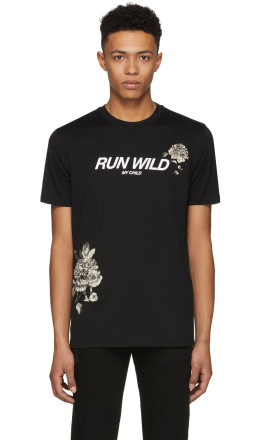 Givenchy - Black 'Run Wild My Child' T-Shirt