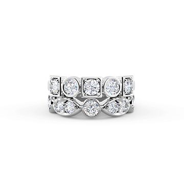 The Forevermark Tribute Collection Stackable Bezel Set Diamond Ring