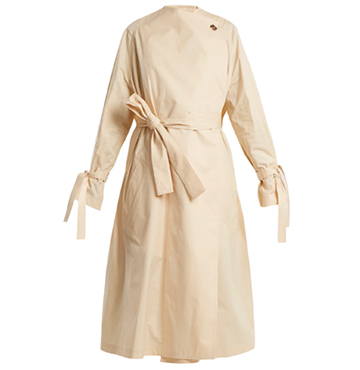 J.W. Anderson Oversized High-Neck Waist-Tie Trench Coat