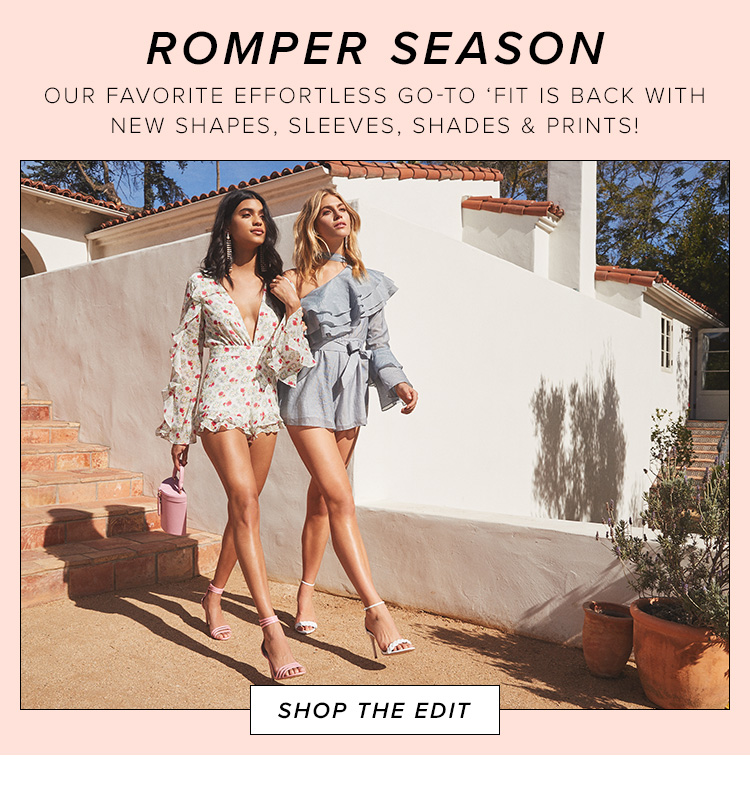Romper season. Our favorite effortless go-to 'fit is back with new shapes, sleeves, shades & prints! Shop the edit.