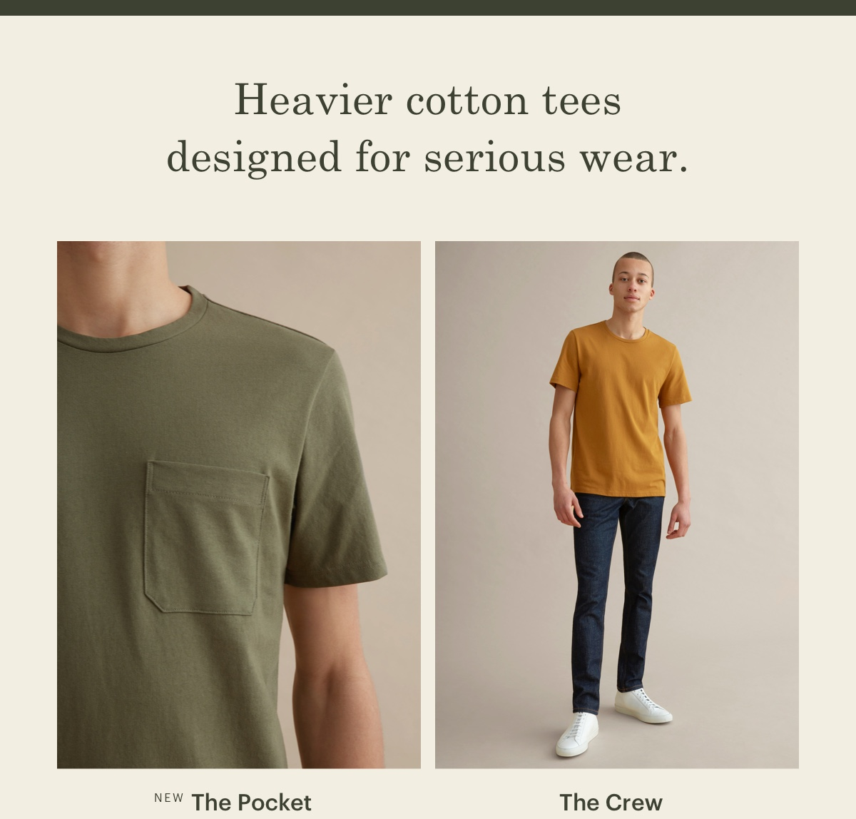 Heavier cotton tees designed for serious wear.