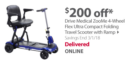 Drive Medical ZooMe 4-Wheel Travel Scooter