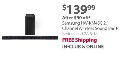 Samsung HW-KM45C 2.1 Channel Wireless Sound Bar