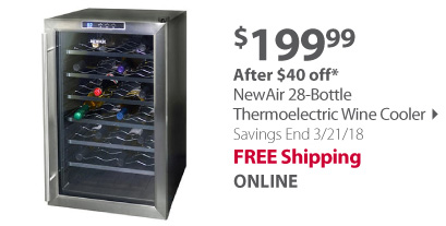NewAir 28-Bottle Thermoelectric Wine Cooler