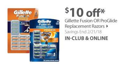 Gillette Fushion or ProGlide Replacement Razors