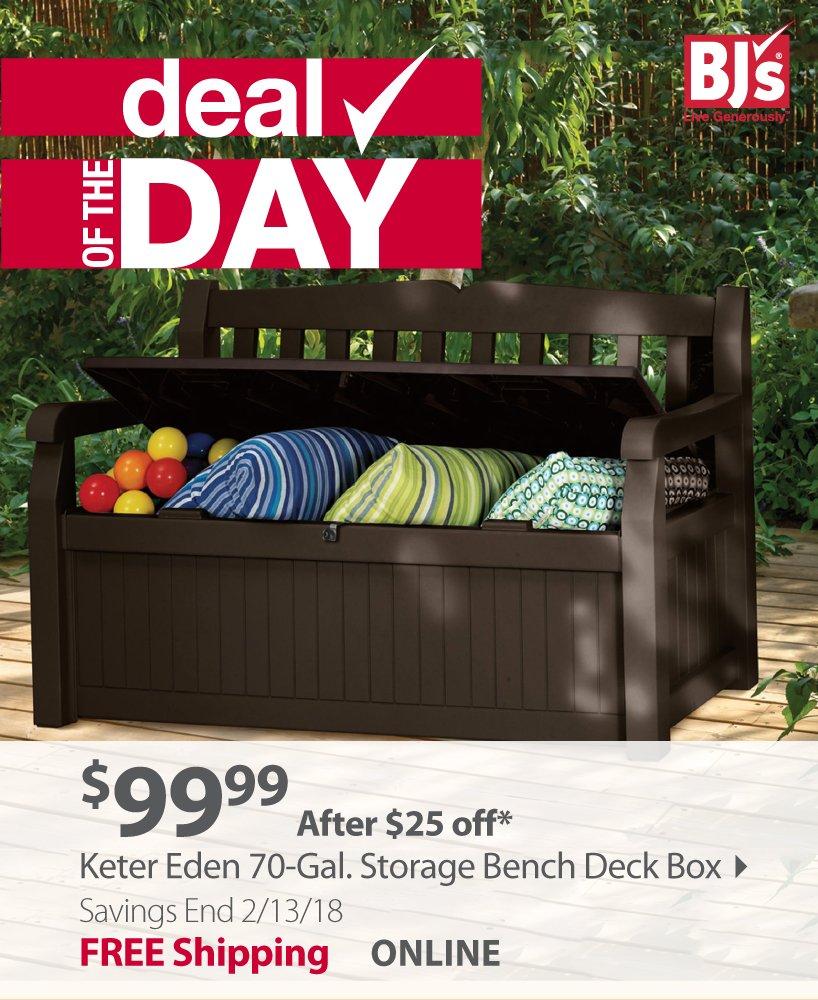 Keter Eden 70-Gal. Storage Bench Deck Box