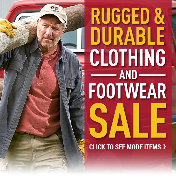 Rugged & Durable Clothing and Footwear Sale