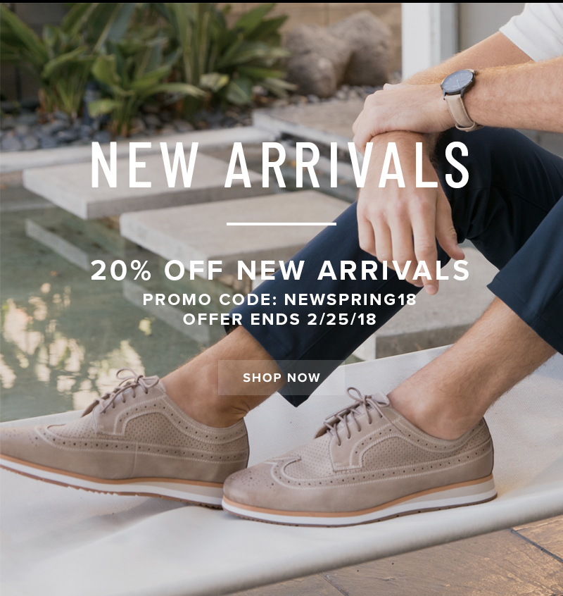 Take 20% off New Arrivals with promo code NEWSPRING18 at checkout. Display images to learn more!