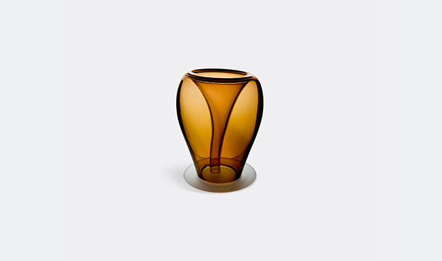 Glass plant pot by Valner Glass