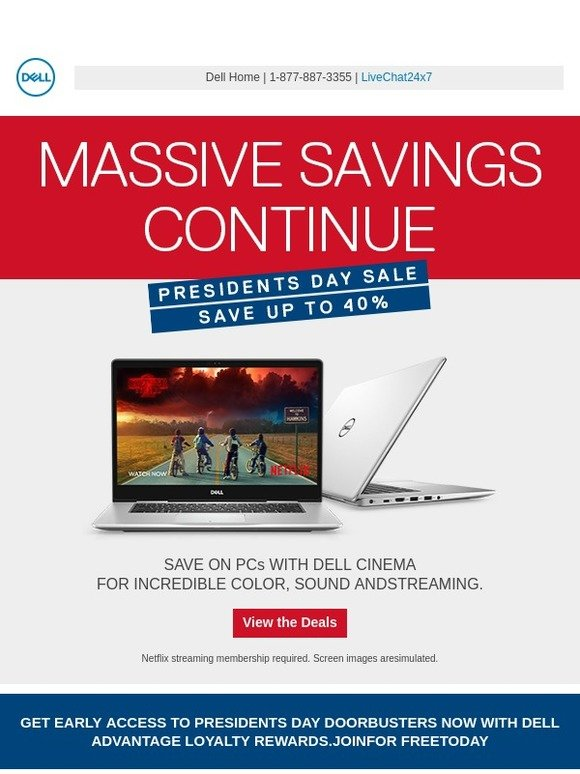 Dell: Massive deals continue  You're well on your way to saving