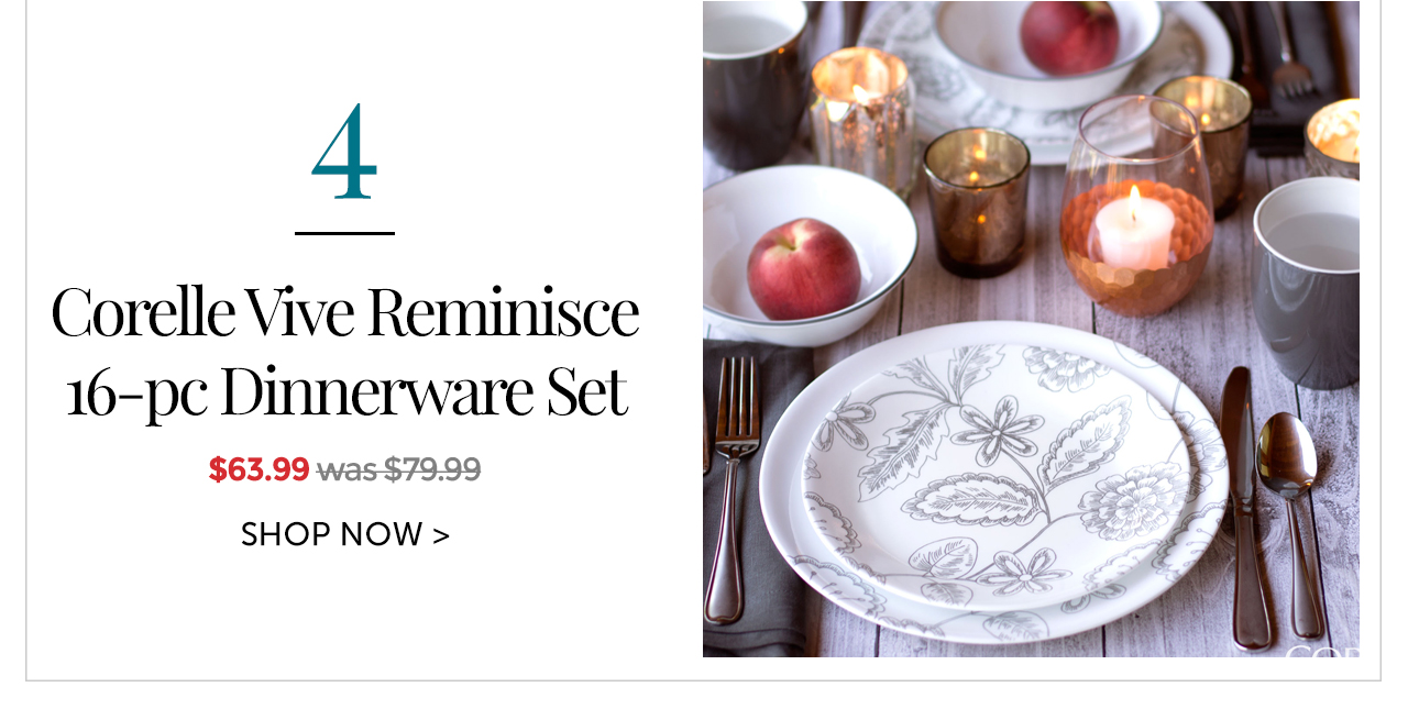 Corelle Vive Reminisce 16-pc Dinnerware Set  sc 1 st  Milled & Corelle: Last Day to Save Up to $30 on Your New Dinnerware | Milled