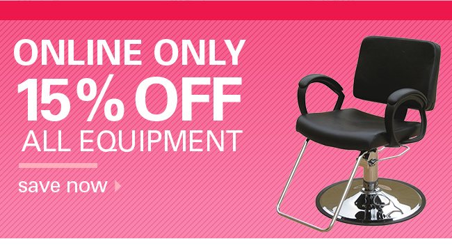 15% off Equipment