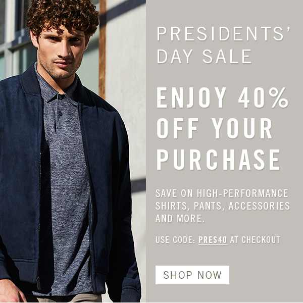 Presidents' Day Sale: 40% Off Your Purchase - SHOP NOW