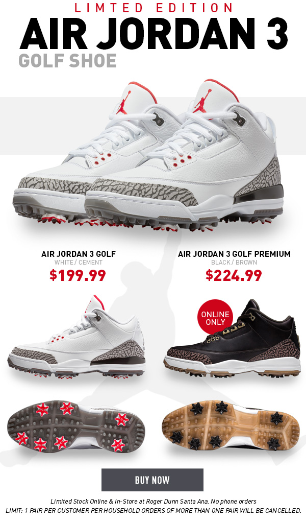 f4466fcd90f5f4 Worldwide Golf Shops  Limited Edition Nike Air Jordan III