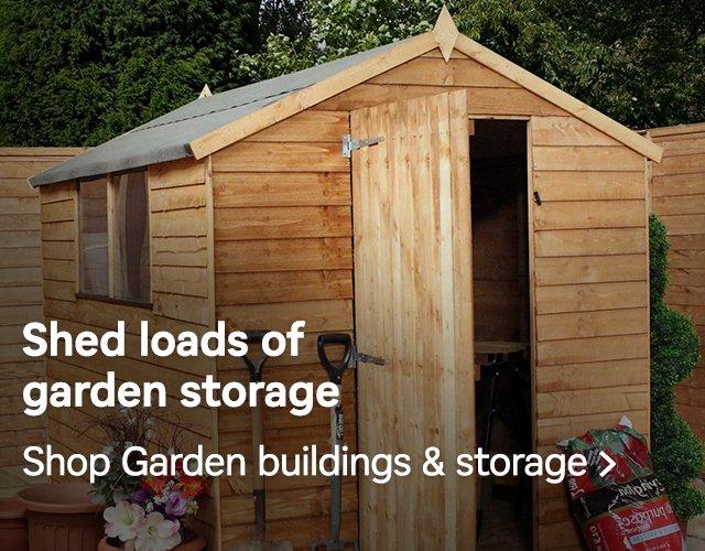 homebase shed loads of garden storage milled. Black Bedroom Furniture Sets. Home Design Ideas