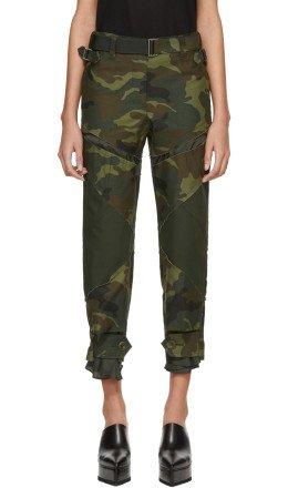 Sacai - Khaki Camouflage Trousers