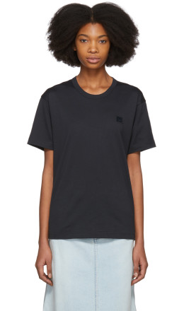 Acne Studios - Black Nash Face T-Shirt