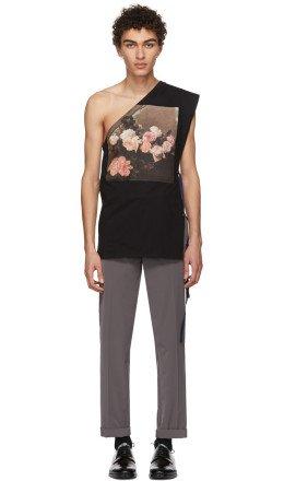 Raf Simons - Black Asymmetric T-Shirt