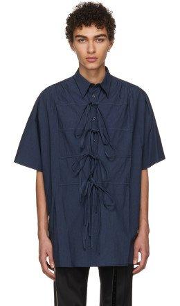 Chin Mens - Navy Bows Shirt