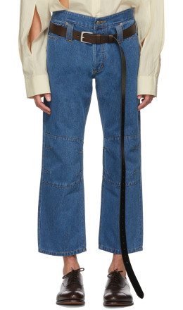 Chin Mens - Blue Cropped Jeans
