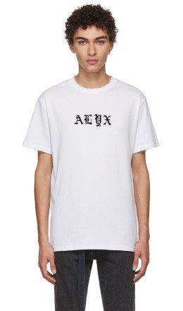 Alyx - White Gothic Logo T-Shirt
