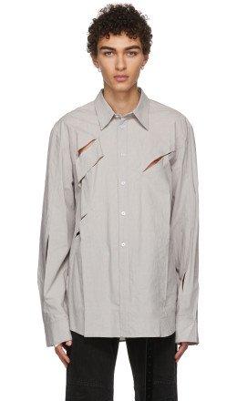 Chin Mens - Grey Cut Out Shirt