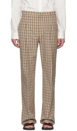Acne Studios - Orange Check Kalnar Suit Trousers