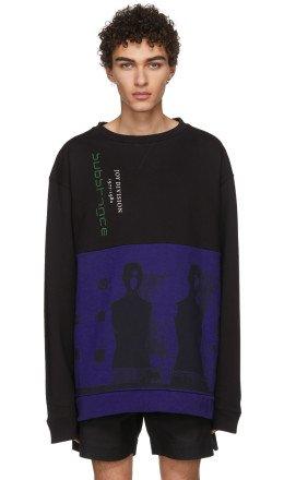 Raf Simons - Black & Blue Joy Division Oversized Sweatshirt