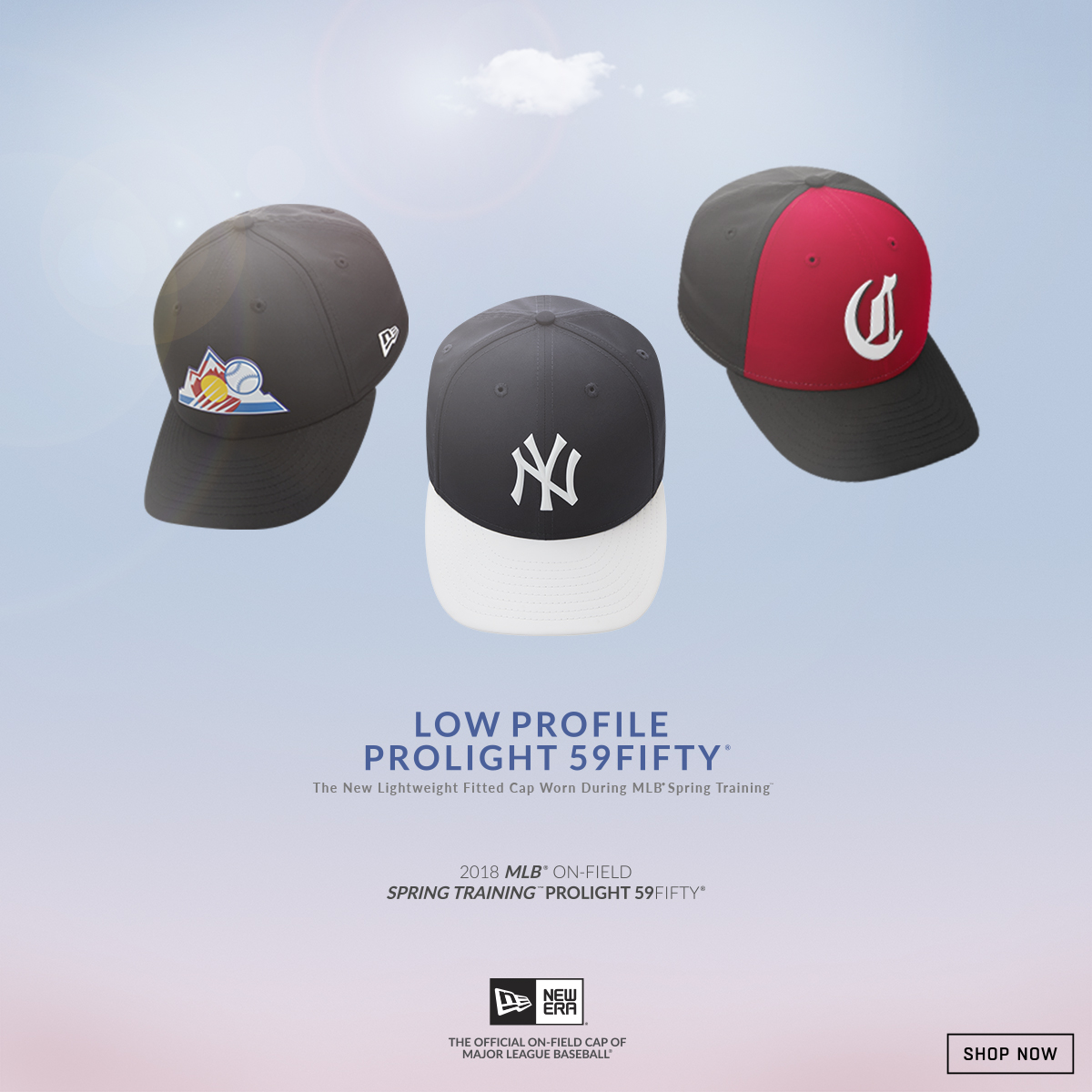 d2d51f78 Gear up for Opening Day with the New Era 2018 MLB Spring Training Prolight Low  Profile 59FIFTY Cap!