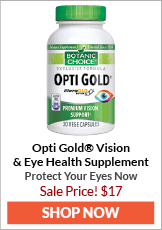 Opti Gold Vision & Eye Health Supplement | Protect Your Eyes Now