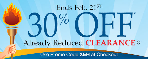 30% Off Already Reduced Clearance